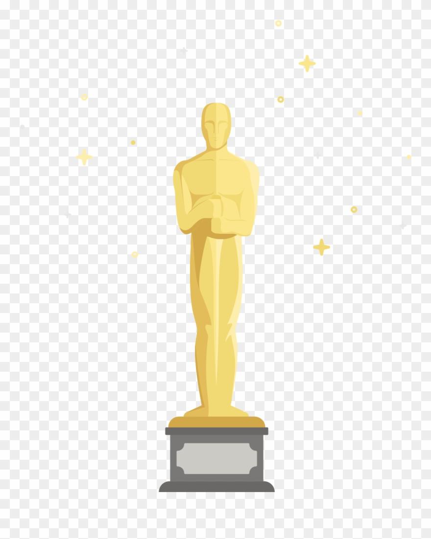 Free clipart of oscar statue transparent download Oscar Clipart Figurine - Oscars Statue Cartoon - Png Download ... transparent download