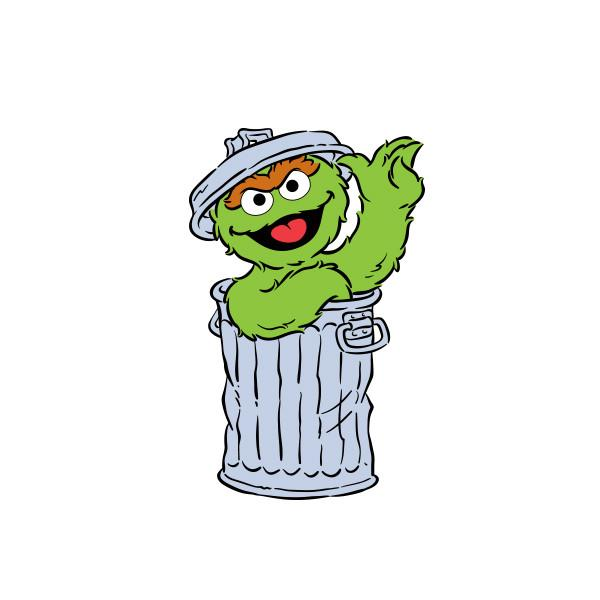 Library Of Banner Black And White Oscar The Grouch Png Files