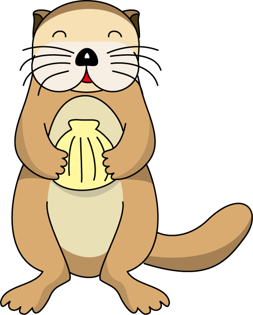 Clipart otter eating fish picture freeuse stock 28+ Collection of Otter Face Clipart | High quality, free cliparts ... picture freeuse stock