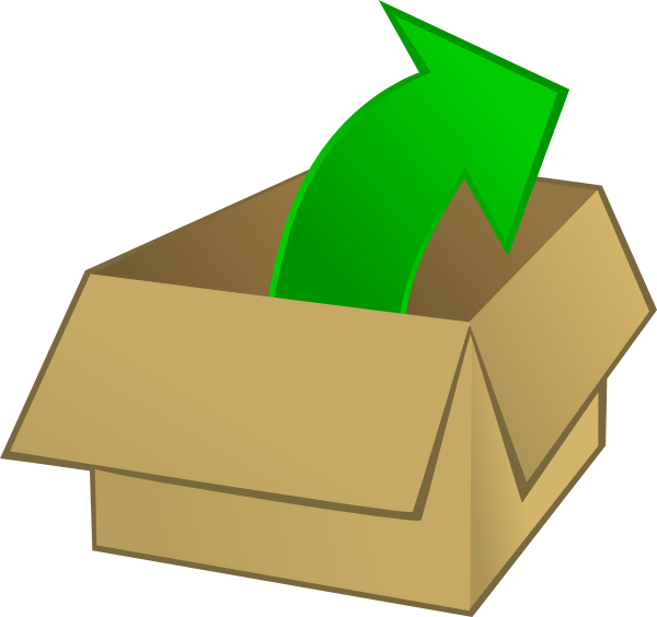 Kid of the box. Clipart out