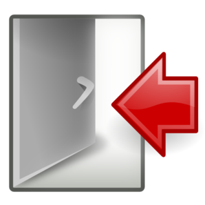 Kid system log clip. Clipart out