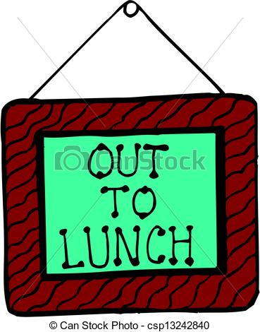 Clip art and stock. Clipart out to lunch