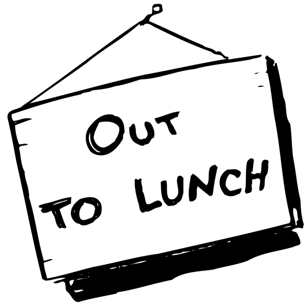 Clipart out to lunch svg black and white Out To Lunch Signs Printable | Clipart Panda - Free Clipart Images svg black and white