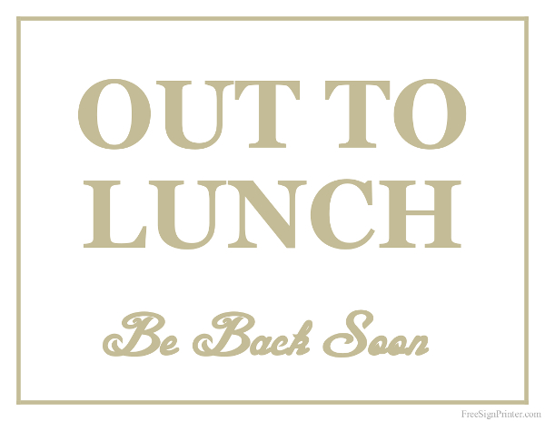 Clipart out to lunch jpg black and white Menu Out To Lunch Clipart - Cliparts and Others Art Inspiration jpg black and white