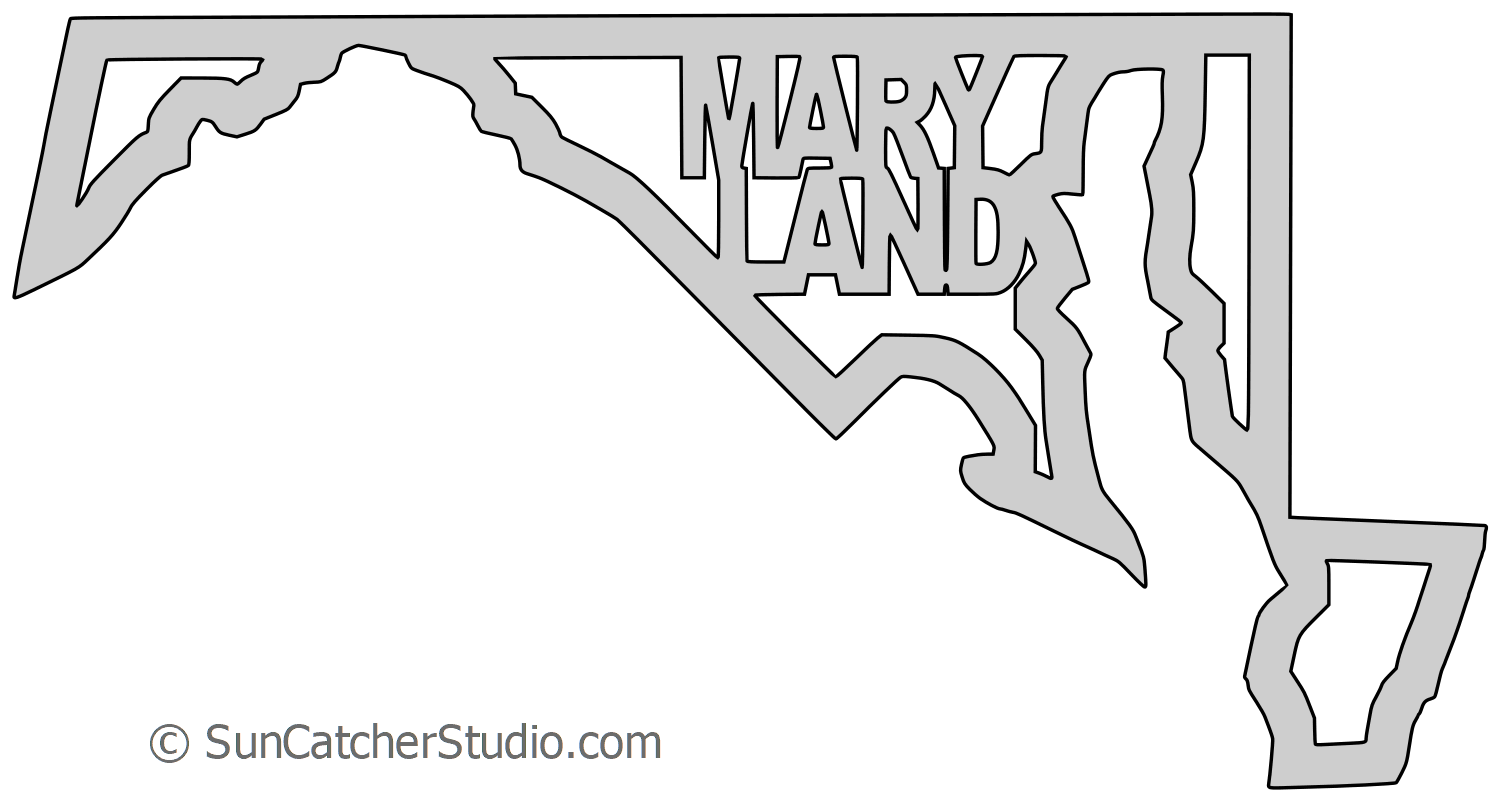 Clipart outline map of delaware and maryland together clipart freeuse stock Maryland state outline clipart images gallery for free download ... clipart freeuse stock