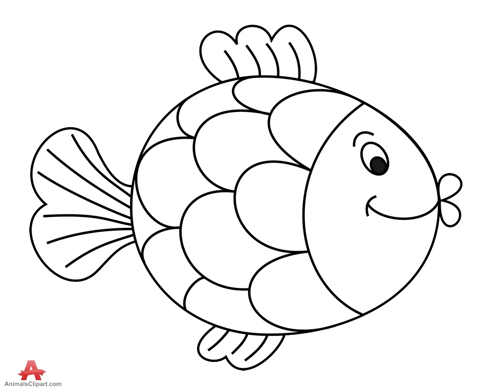 Clipart outline pictures image library Fish outline comic outline of fish free clipart clipartfest ... image library