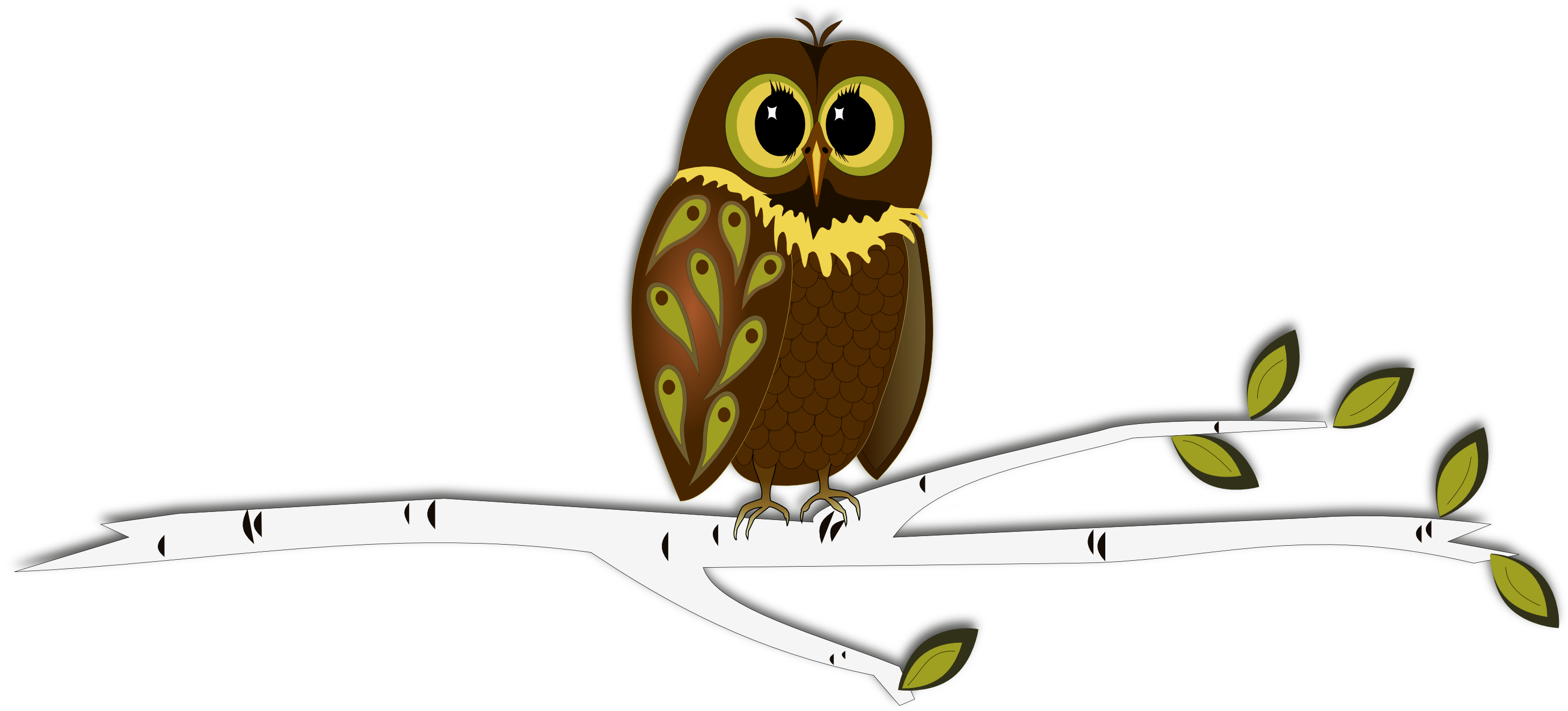 Tree with owl clipart picture transparent stock Inkscape into Autumn ... Free SVG plus a
