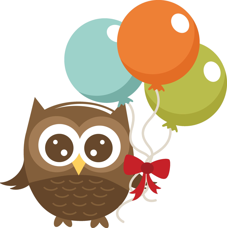 Snowflake owl clipart jpg stock Owl Holding Balloons 03-14-13 8MISS KATE CUTTABLES)   silhouette ... jpg stock