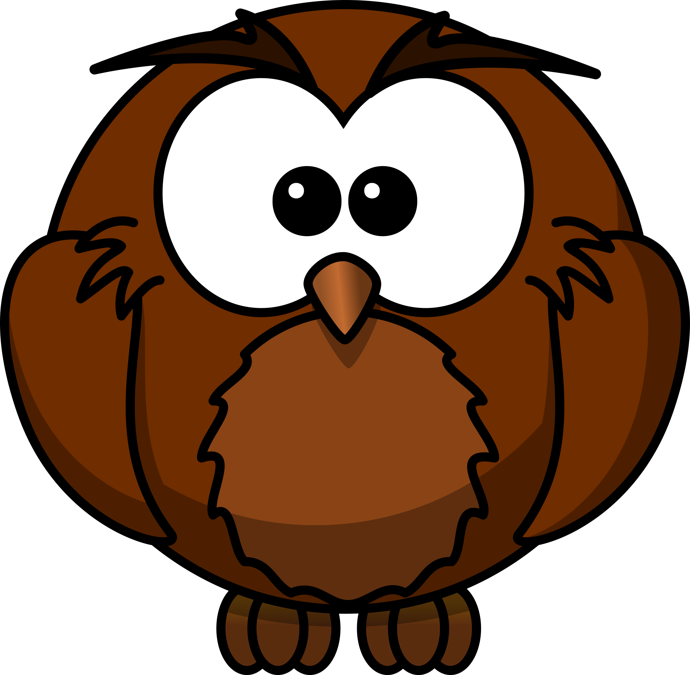 Stick tree clipart clip library Clipart - wise Cartoon owl who has sat under a Mango tree for many ... clip library