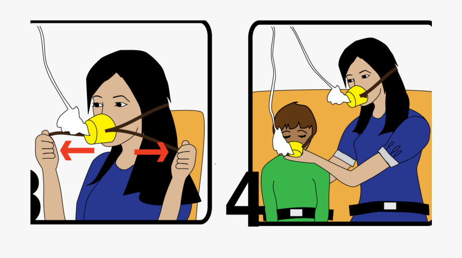 Clipart oxygen mask svg royalty free library Oxygen Mask Png - Help Yourself Before Helping Others Airplane ... svg royalty free library
