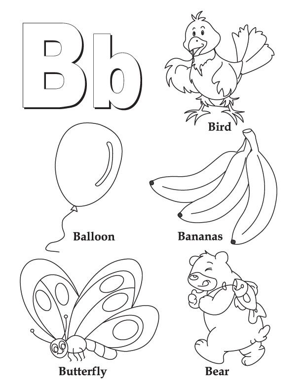 Clipart pages of things that begin with the letter b jpg freeuse download 17 Best ideas about Letter B Worksheets on Pinterest | Letter b ... jpg freeuse download