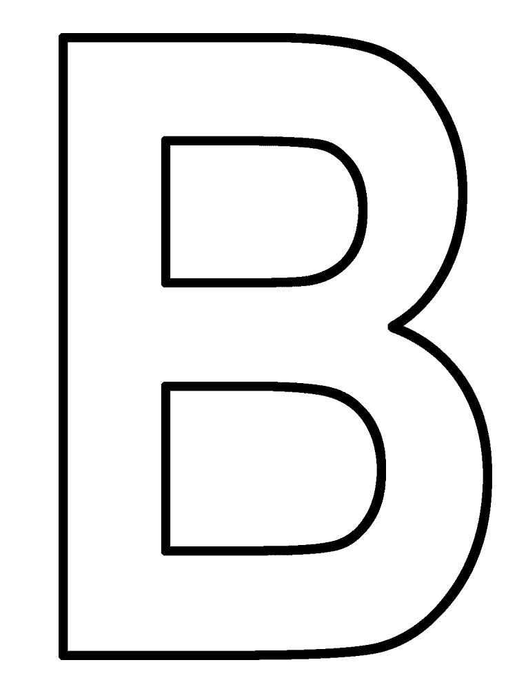 Clipart pages of things that begin with the letter b clip freeuse download Letter B Bear Coloring Page. best letter b coloring pages coloring ... clip freeuse download