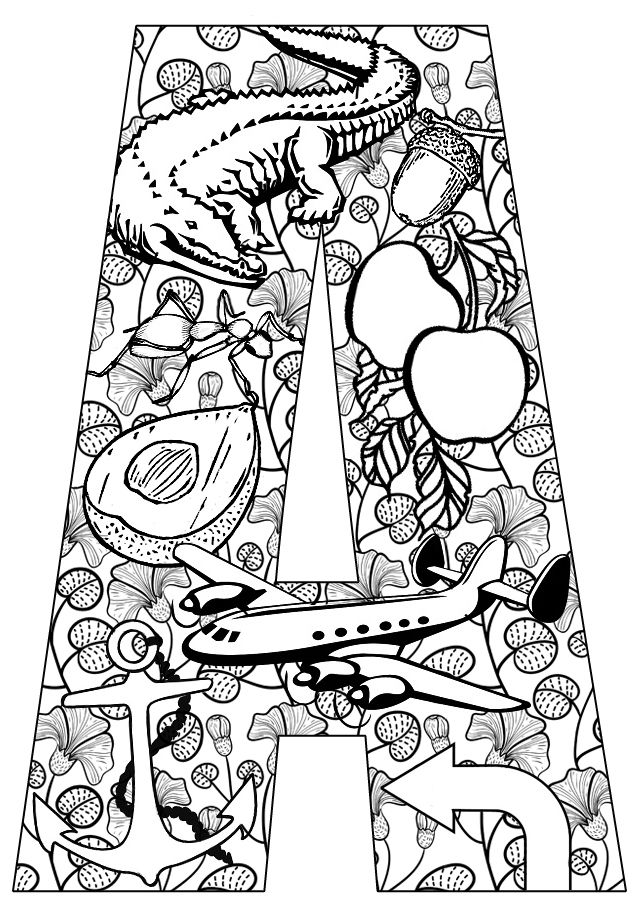 Clipart pages of things that begin with the letter b picture free 17 Best ideas about Alphabet Coloring Pages on Pinterest | Abc ... picture free