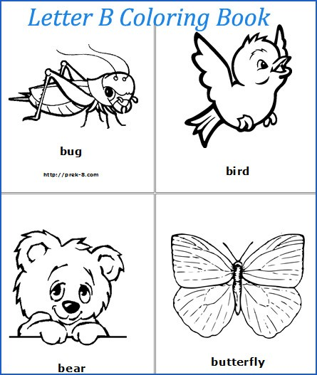 Clipart pages of things that begin with the letter b png free Coloring Pages Of Things That Start With B | Coloring Pages png free