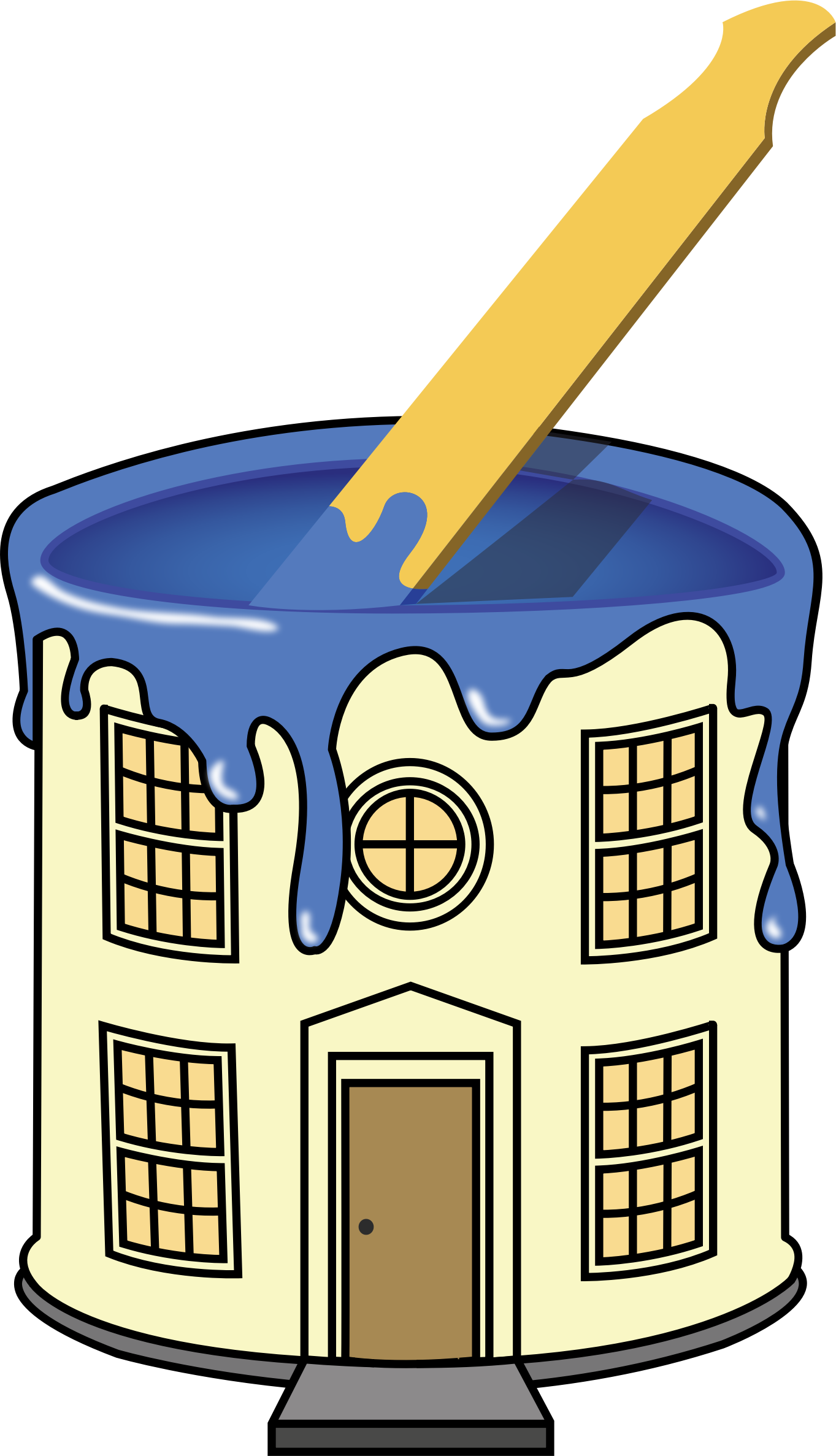 Clipart painting a house yellow graphic stock Clipart - house paint graphic stock