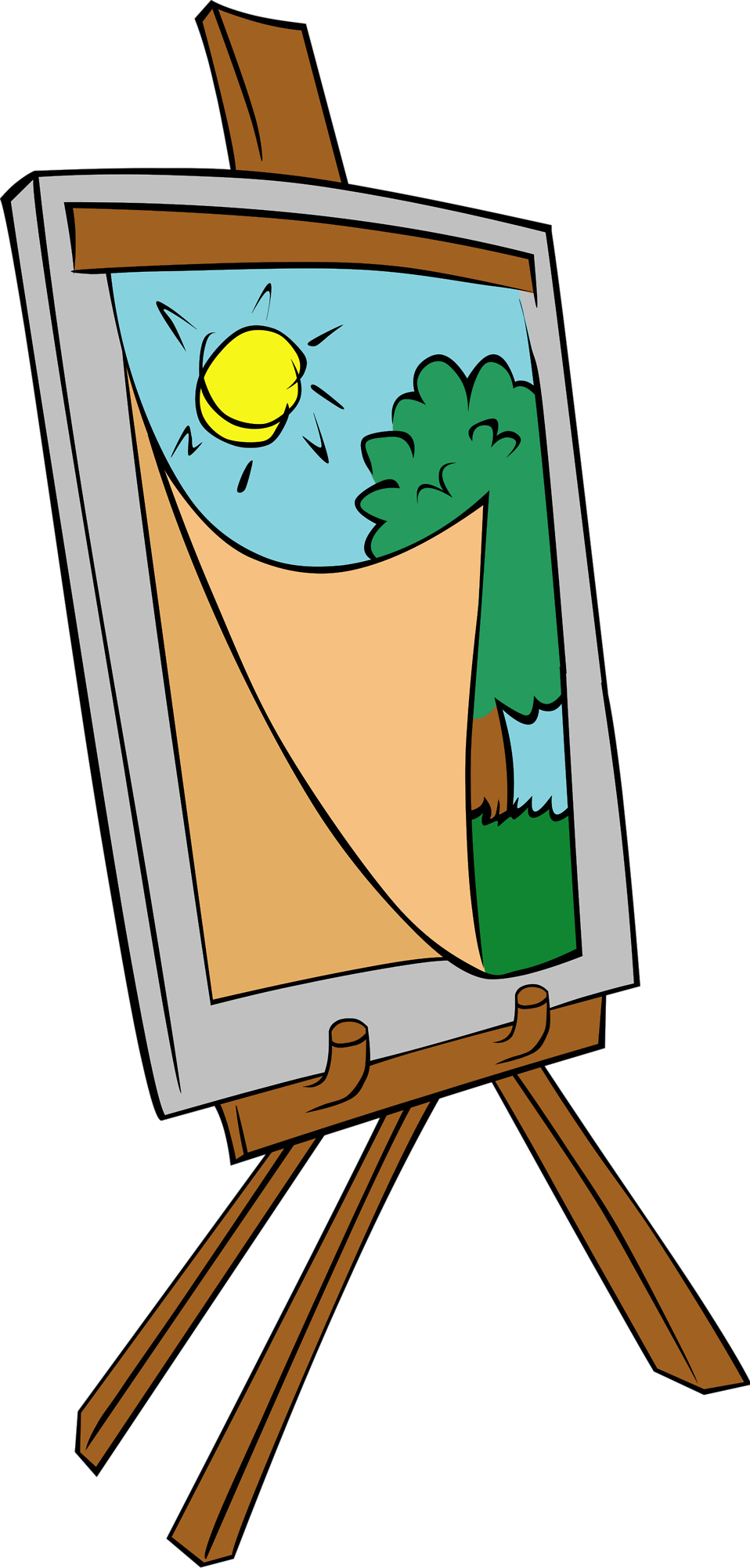 House painter clipart free picture Painting | Free Stock Photo | Illustration of a painting on an easel ... picture