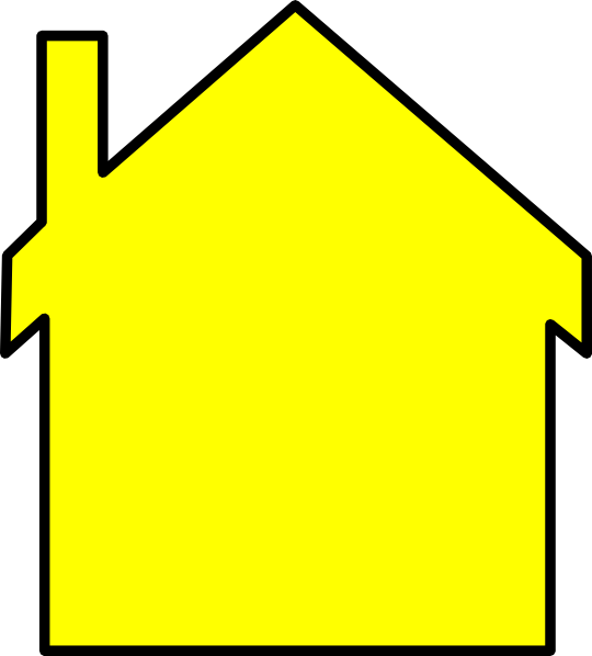 Clipart painting a house yellow svg library download Yellow House Outline Clip Art at Clker.com - vector clip art online ... svg library download