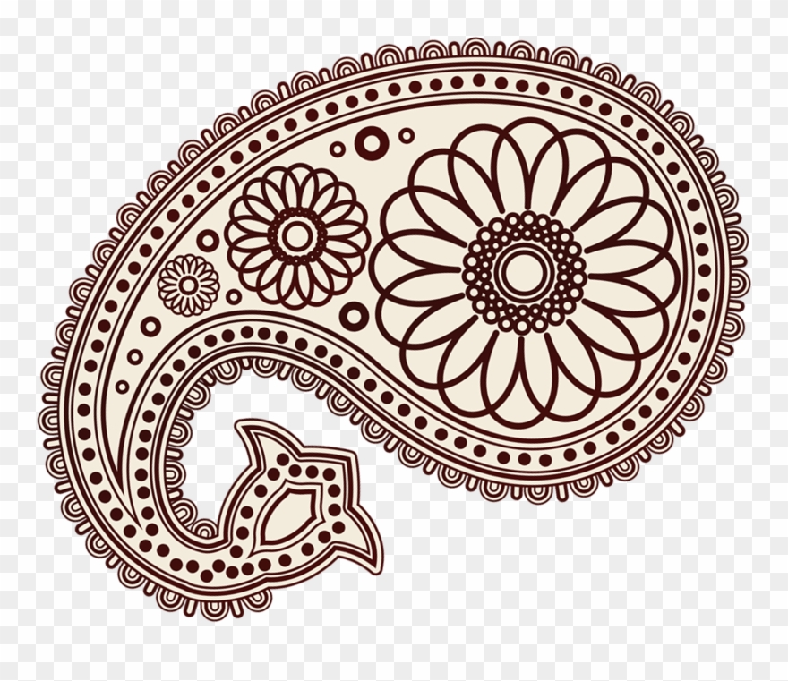 Clipart paisley design clip free stock Abstract Flower Designs - Paisley Patterns Clipart (#3713947 ... clip free stock