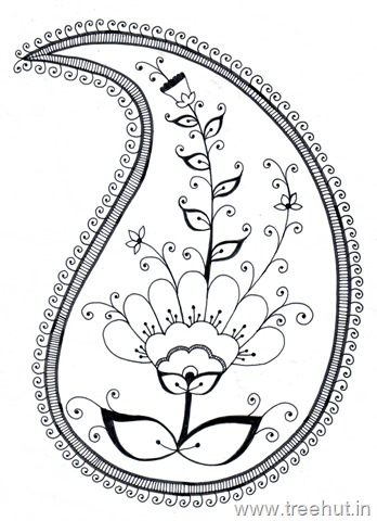 Clipart paisley design graphic black and white library Paisley Pattern Clipart graphic black and white library