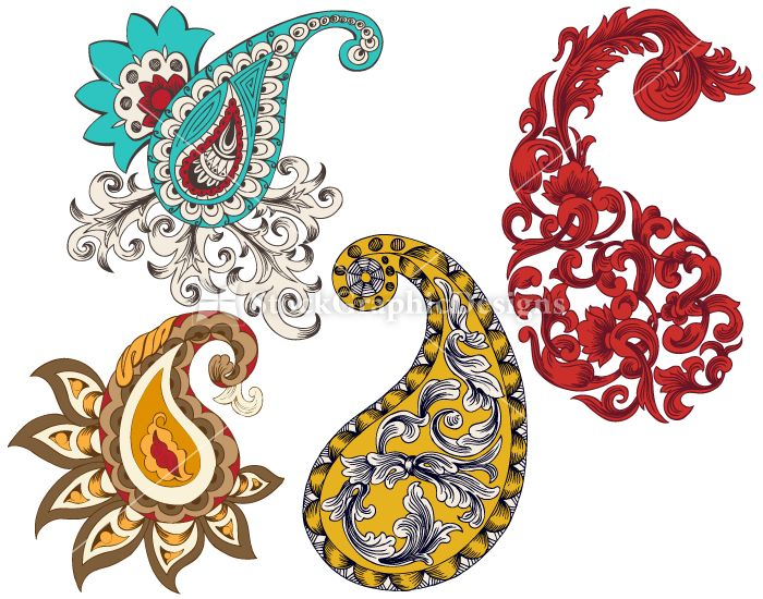 Clipart paisley design picture freeuse library Download indian paisley vector clipart Paisley Designs Clip art ... picture freeuse library