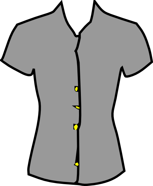 Grey outfit clipart graphic transparent download Women Blouse Clothing Clip Art at Clker.com - vector clip art online ... graphic transparent download