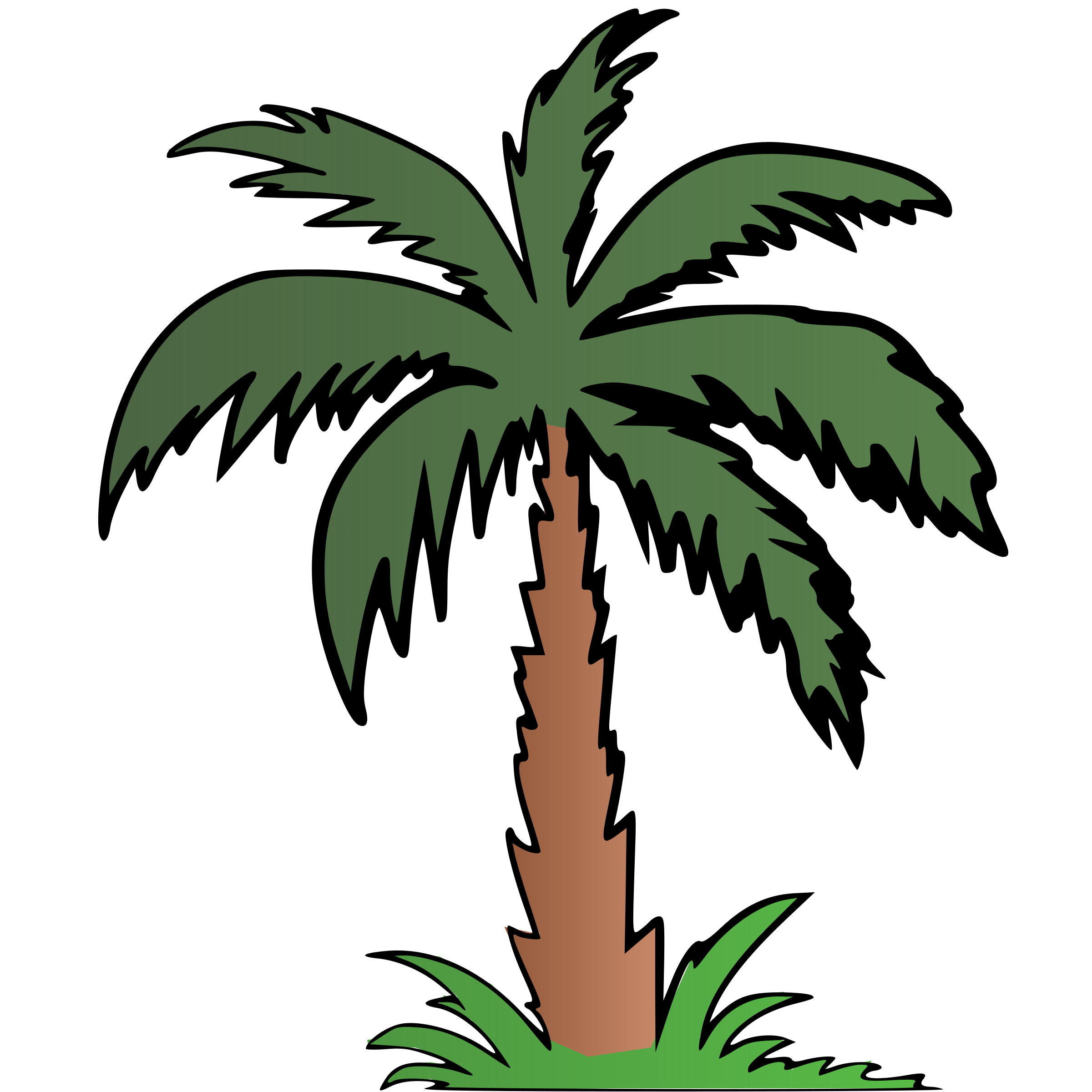 Clipart palm tree banner freeuse library Clipart - Palm Tree - Colour banner freeuse library