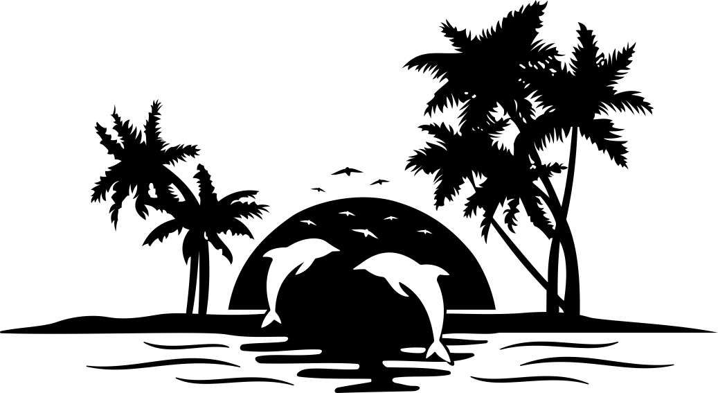 Clipart palm tree beach black and white jpg royalty free Pin by Mackenzie Underwood on Do It Yourself! | Tree svg, Palm tree ... jpg royalty free