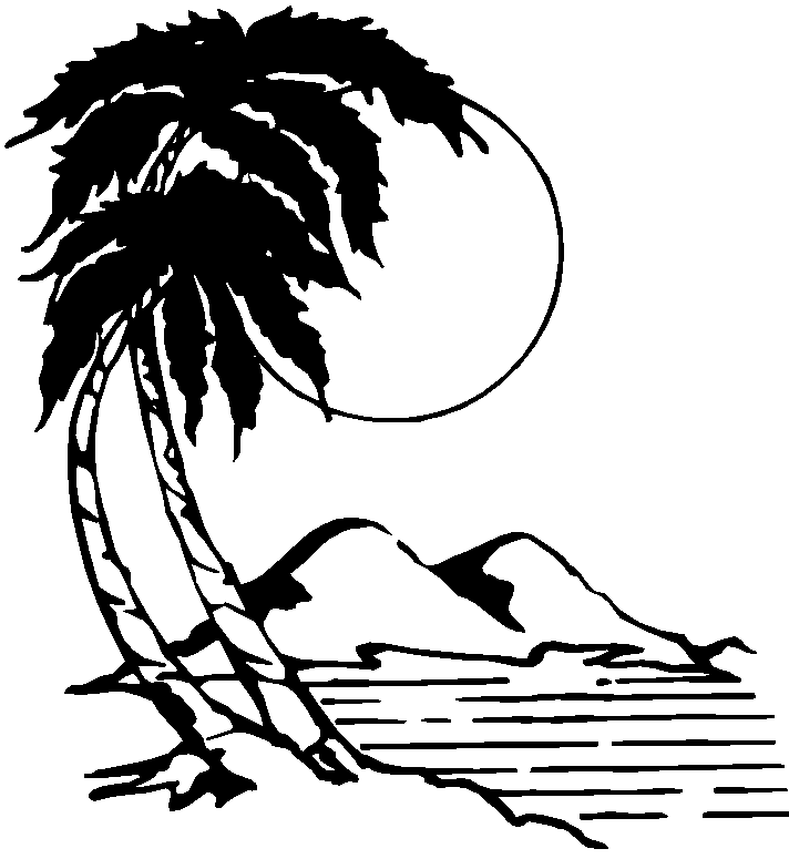 Free clipart black and white wooded areas library Free Beach Palm Tree Pictures, Download Free Clip Art, Free Clip Art ... library