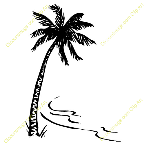 Clipart palm tree beach black and white svg stock Palm Tree Clipart Black And White | Free download best Palm Tree ... svg stock