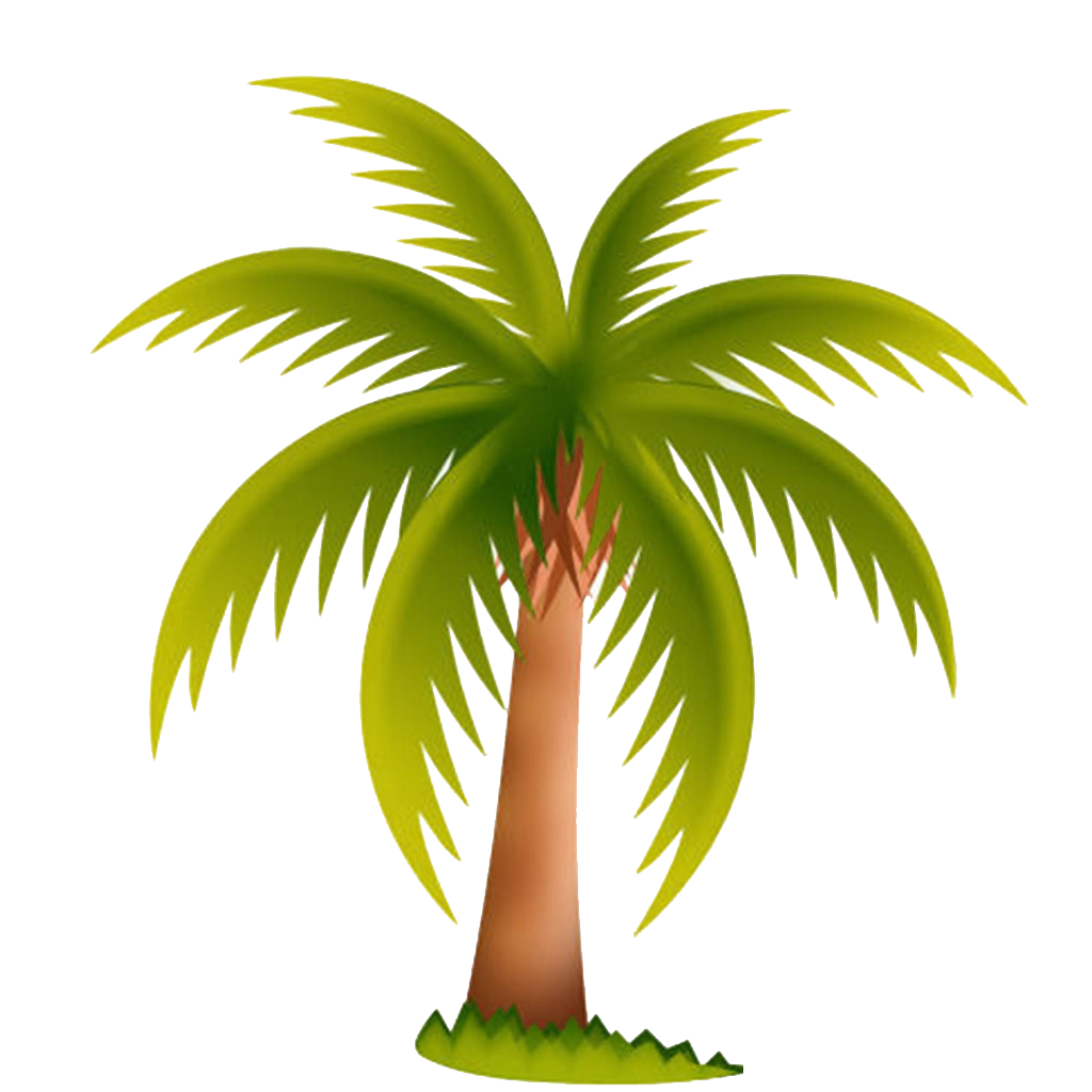 Palm tree with coconuts clipart vector transparent library Arecaceae Date palm Tree Clip art - Spread coconut leaves picture ... vector transparent library