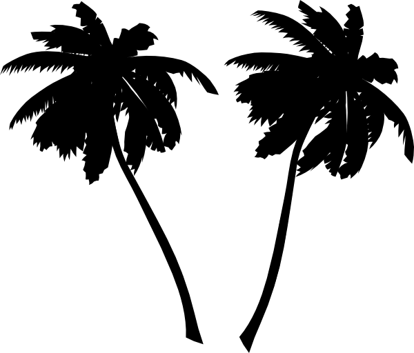 Palm tree silhouette clipart png black and white library Palm Tree Silhouette | Clipart Panda - Free Clipart Images png black and white library