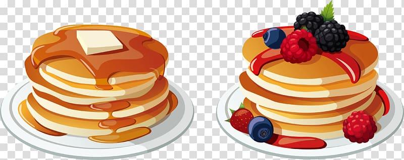 Clipart pancake breakfast image download Pancake with raspberries and blackberries illustration, Pancake ... image download