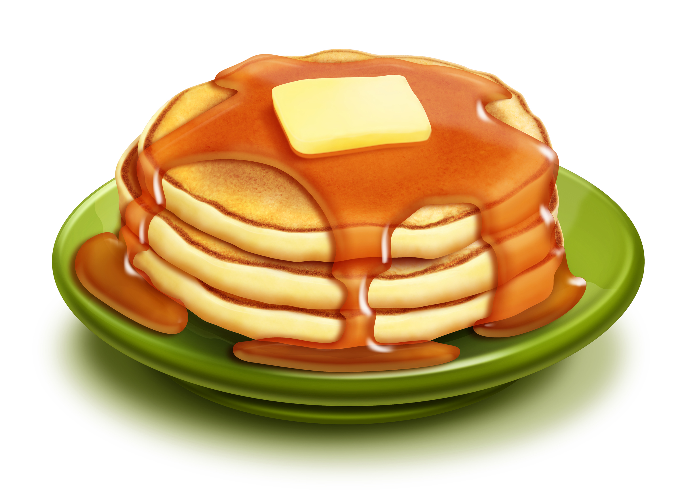 Look at clip art. Free pancake breakfast clipart