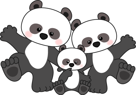 Clipart panda png library stock Clipart panda with bamboo stalk - Clipartix png library stock