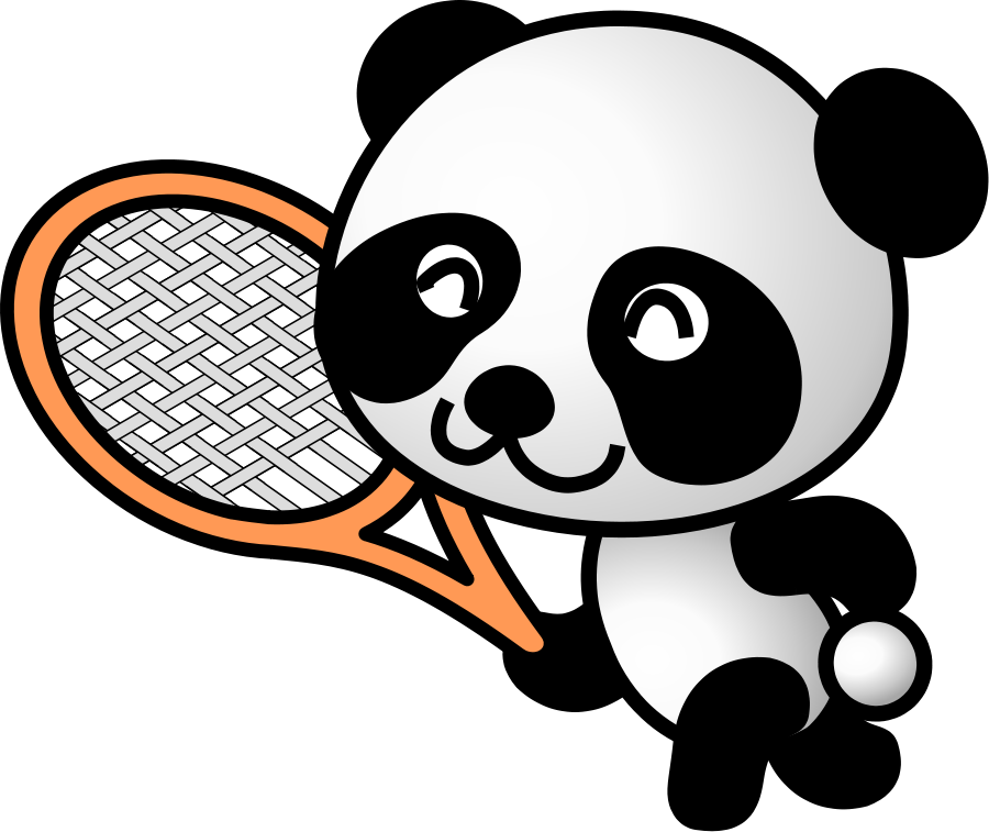 Clipart panda svg freeuse Tennis clipart panda - ClipartFest svg freeuse