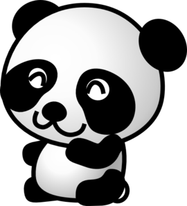 Clipart panda vector black and white download Cute Panda Bear Clipart | Clipart Panda - Free Clipart Images vector black and white download
