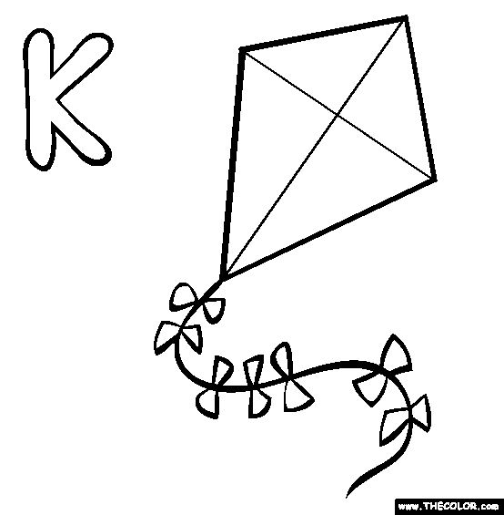 Clipart panda alphabet letter k vector library stock Kite Coloring Pages: Kite | Clipart Panda - Free Clipart Images ... vector library stock