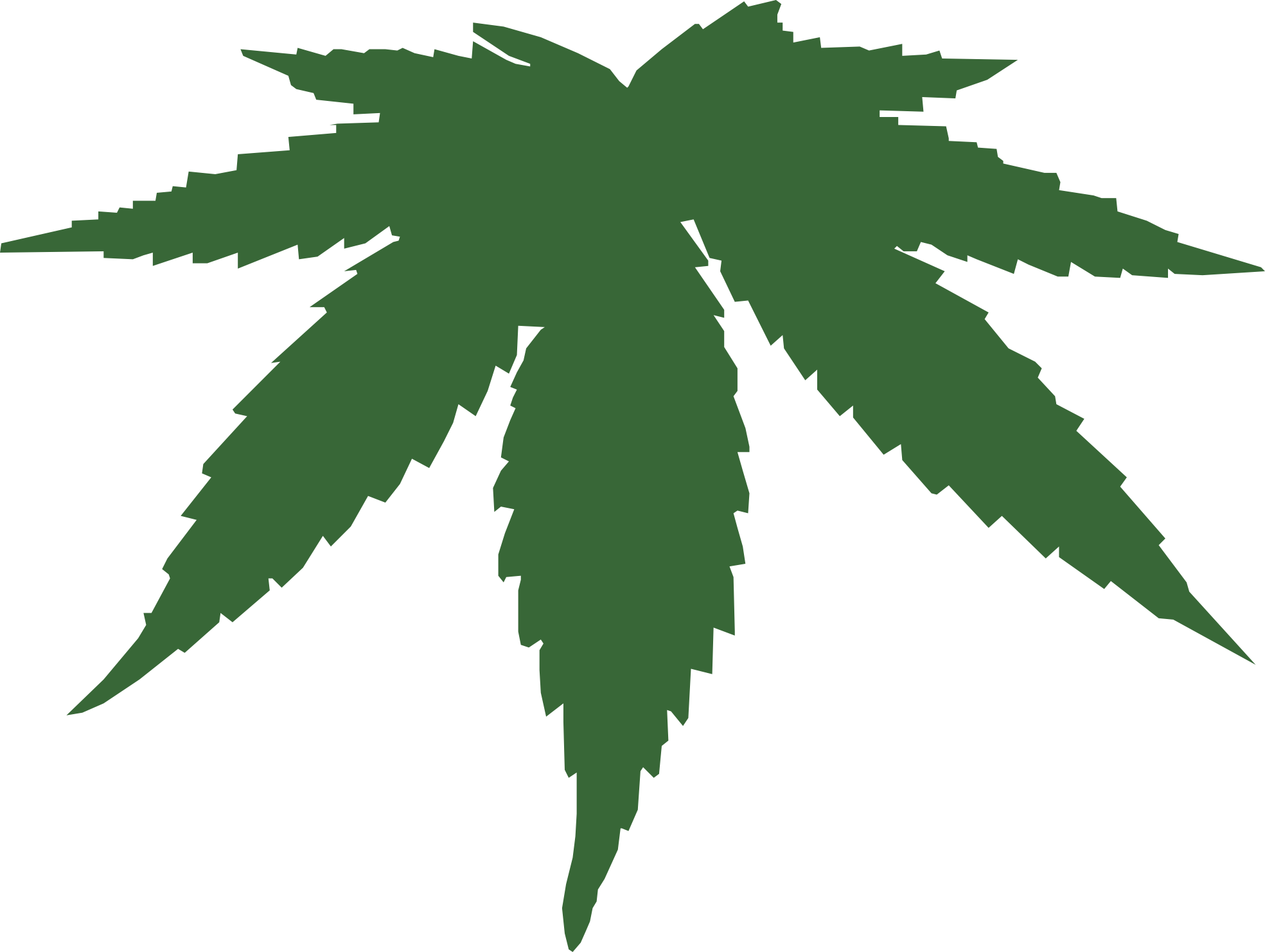 Black Weed Leaf Clip Art | Clipart Panda - Free Clipart Images svg freeuse library
