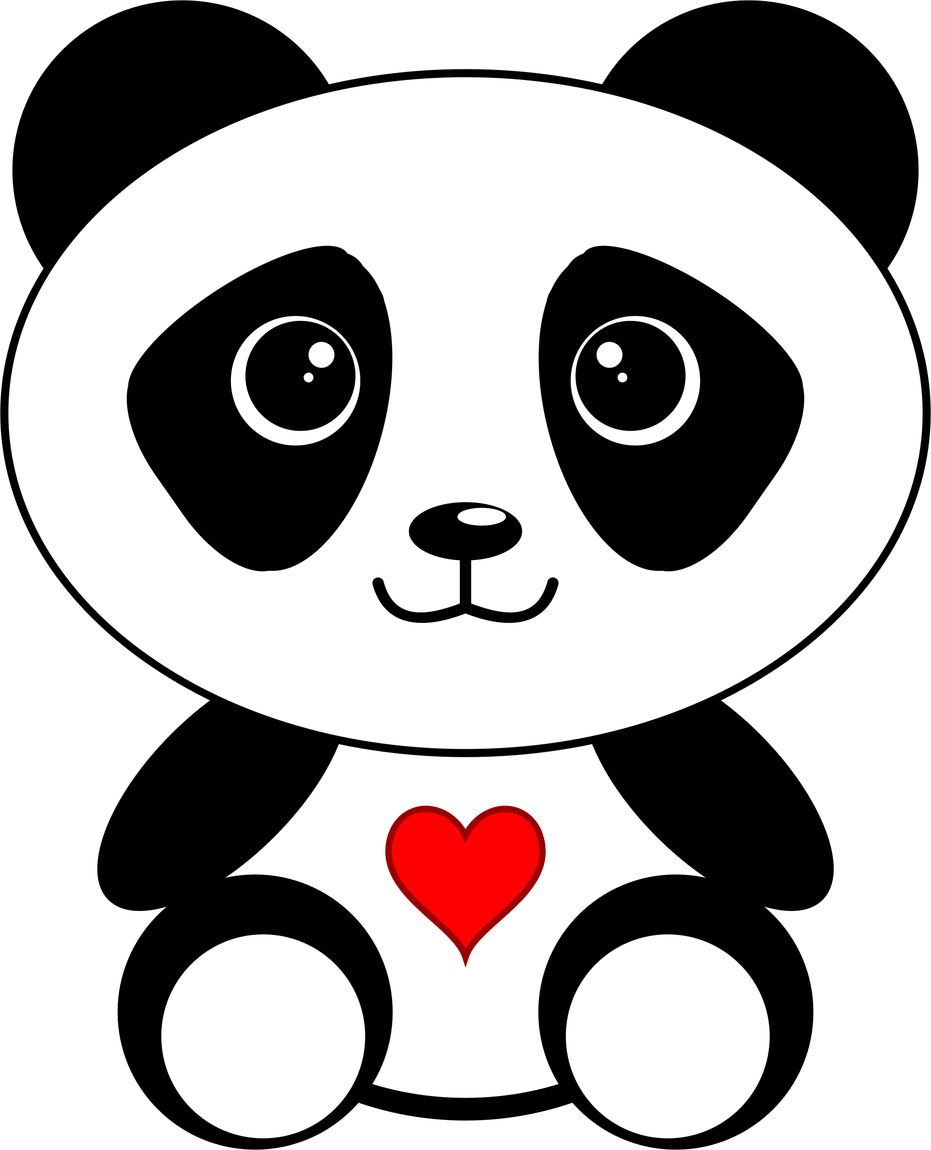 Clipart panda heart png royalty free stock Clipart - Panda with a Heart png royalty free stock