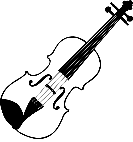 Clipart panda playing violin clipart black and white clip art freeuse library Black White Violin clip art | Clipart Panda - Free Clipart Images clip art freeuse library