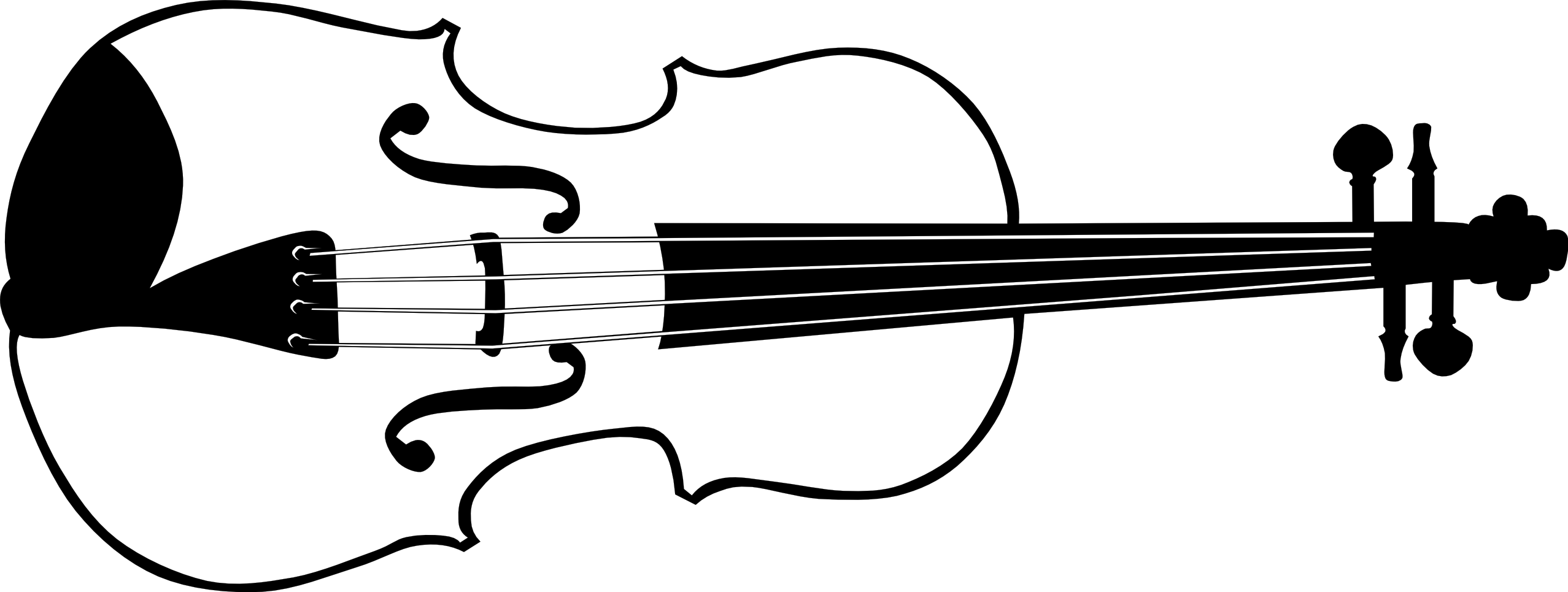 Free black and white musicians bow clipart