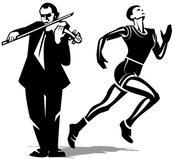 Clipart panda playing violin clipart black and white clipart royalty free Playing Violin Clipart Black And White | Clipart Panda - Free ... clipart royalty free