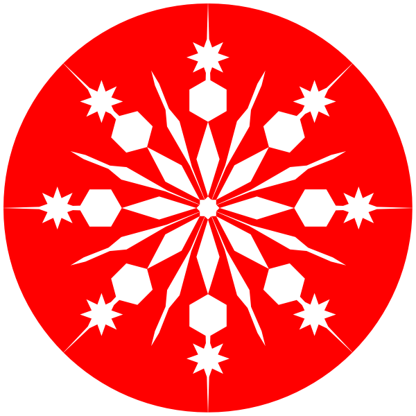Red and white snowflake clipart clipart black and white library Red Snowflake Clipart | Clipart Panda - Free Clipart Images clipart black and white library