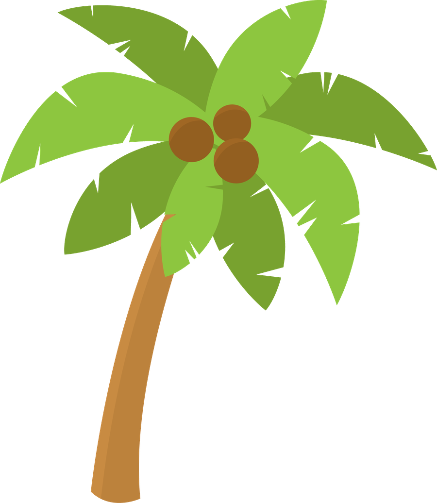 Clipart panda tree svg black and white library Palm Tree Clipart Hawaii#3762944 svg black and white library