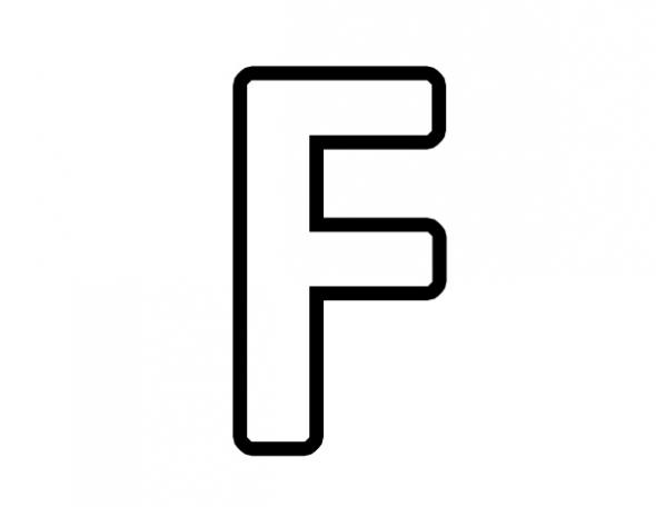 Clipart panda upper case alphabet letter a svg transparent download Letter F Clipart - Clipart Kid svg transparent download