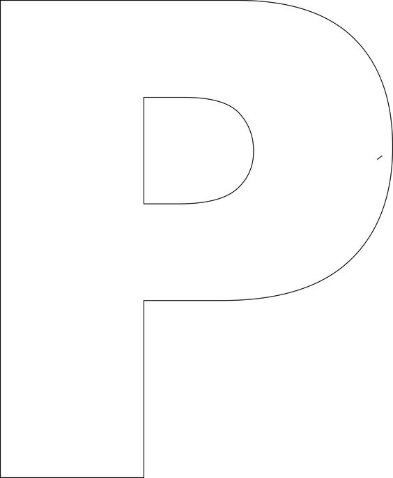 Clipart panda upper case alphabet letter a picture freeuse Free Printable Upper Case Alphabet Template   Cases, Ps and Alphabet picture freeuse