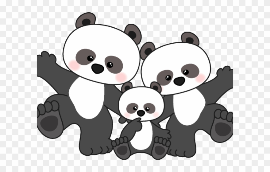 Clipart pandas banner freeuse Panda Clipart Scrapbook - Pandas Clipart Black And White - Png ... banner freeuse