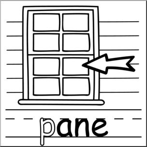 Clipart pane clipart freeuse Clip Art: Basic Words: -ane Phonics: pane B&W I abcteach.com | abcteach clipart freeuse