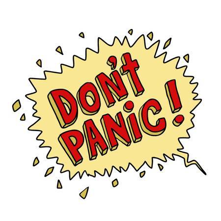 Clipart panic image black and white stock Dont panic clipart 3 » Clipart Portal image black and white stock