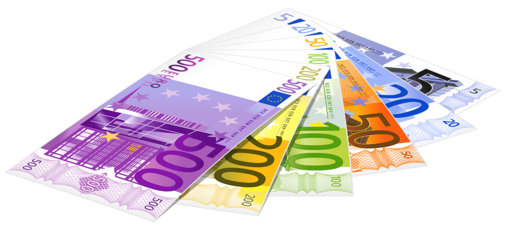 Euro Banknotes PNG Clipart vector black and white download